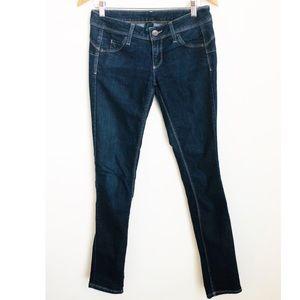 Benneton dark skinny jeans 30